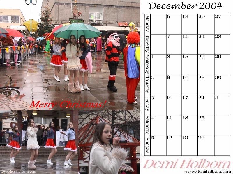 december calendar. Demi#39;s December calendar goes